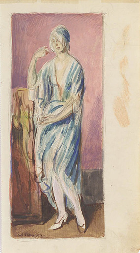 Franz WINDHAGER - Zeichnung Aquarell - Woman Study, 1920s