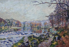Armand GUILLAUMIN - Painting - La Vallée de la Creuze