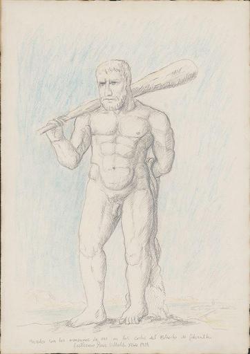 Guillermo PÉREZ VILLALTA - Drawing-Watercolor - Hércules con las manzanas de oro en las costas del Estrecho
