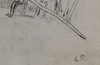 Camille PISSARRO - Dibujo Acuarela - Auvers-sur-Oise Étude