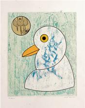 Max ERNST - Estampe-Multiple - Les oiseaux en péril