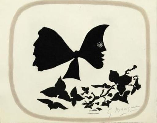 Georges BRAQUE - Grabado - Butterfly Head