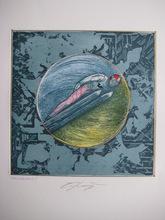 Ernst FUCHS - Print-Multiple - GRAVURE SKI SIGNÉE CRAYON COLORÉ MAIN HANDSIGNED ETCHING