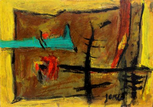 Marcel JANCO - Painting - Landscape- Winter