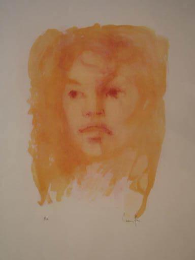 Leonor FINI - Print-Multiple - Visage orange,1975.