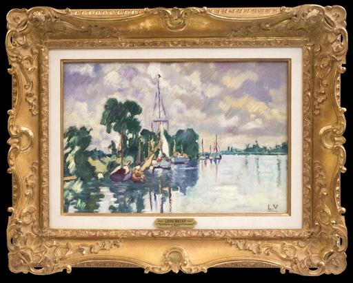 Louis VALTAT - Painting - Voiliers à Ouistreham
