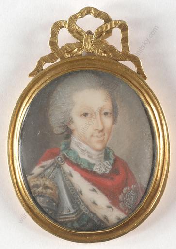 """Miniature - """"King Charles Emmanuel IV of Sardinia"""""""