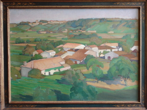 Jean AUFORT - Pittura - Village rural