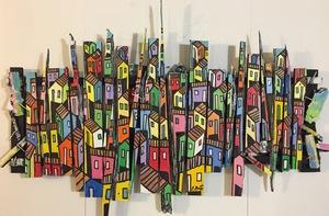 Estévès BRITO - Painting - favela