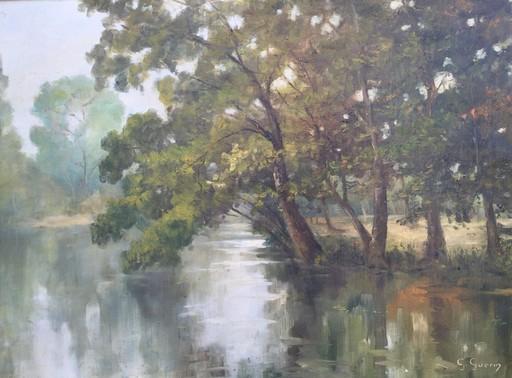 Georges GUERIN - Painting - Paysage de rivière