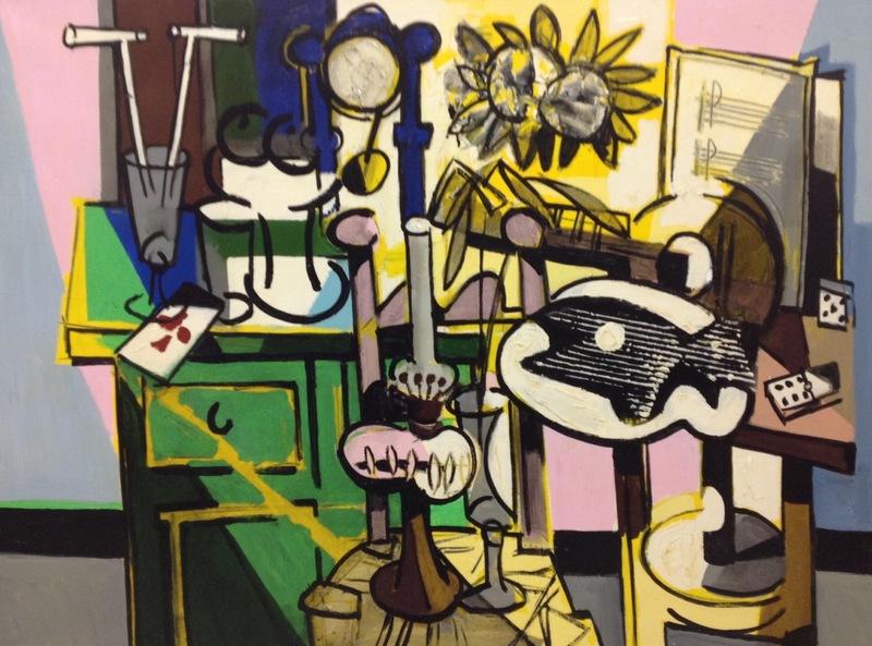 Claude VENARD - Peinture - Le buffet vert
