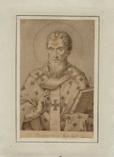 "Ludwig Ferdinand SCHNORR VON CAROLSFELD - Dessin-Aquarelle - ""Saint Epiphanius"" by Ludwig F. Schnorr von Carolsfeld"