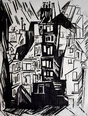 Lyonel FEININGER - Print-Multiple - Parisian Houses | Pariser Häuser