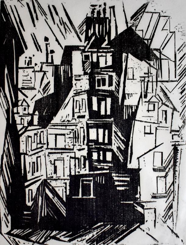 里欧纳尔•斐宁格 - 版画 - Parisian Houses | Pariser Häuser