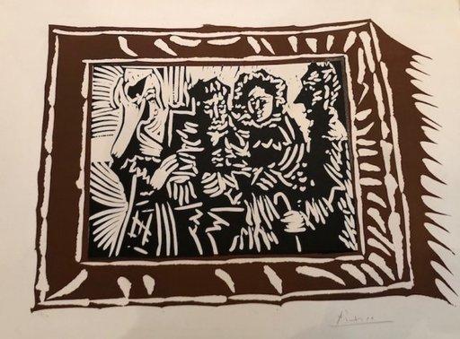 巴勃罗•毕加索 - 版画 - Portrait de famille ingresque IV