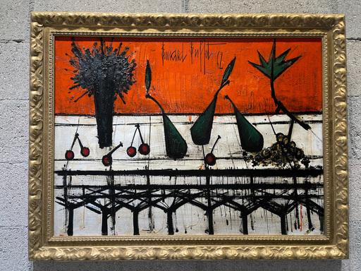 Bernard BUFFET - Peinture - Nature Morte au Bouquet