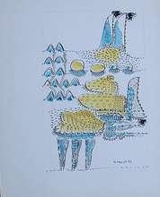 Eugenio Fernandez GRANELL - Dibujo Acuarela - ST
