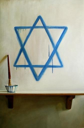 Gustavo VALENZUELA - Gemälde - Blue and White