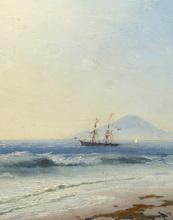 Ivan Constantinovich AIVAZOVSKY - Painting - Ship at Sea off the Island of Capri