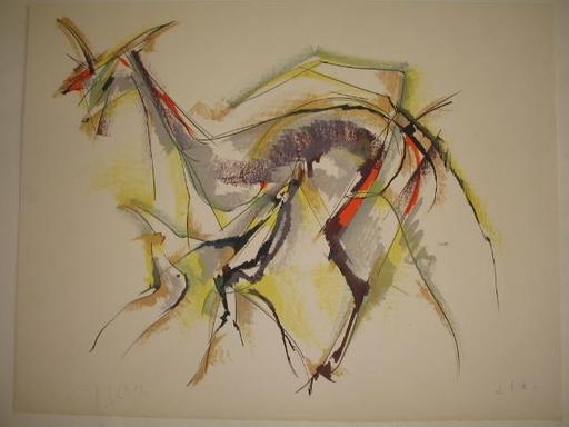 Roger LERSY - Estampe-Multiple - La biche,1985.