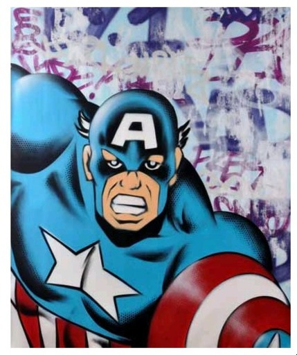 SEEN - Pittura - Captain America