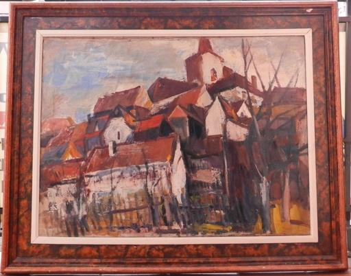 Frantisek DVORAK - Painting - Under the Church