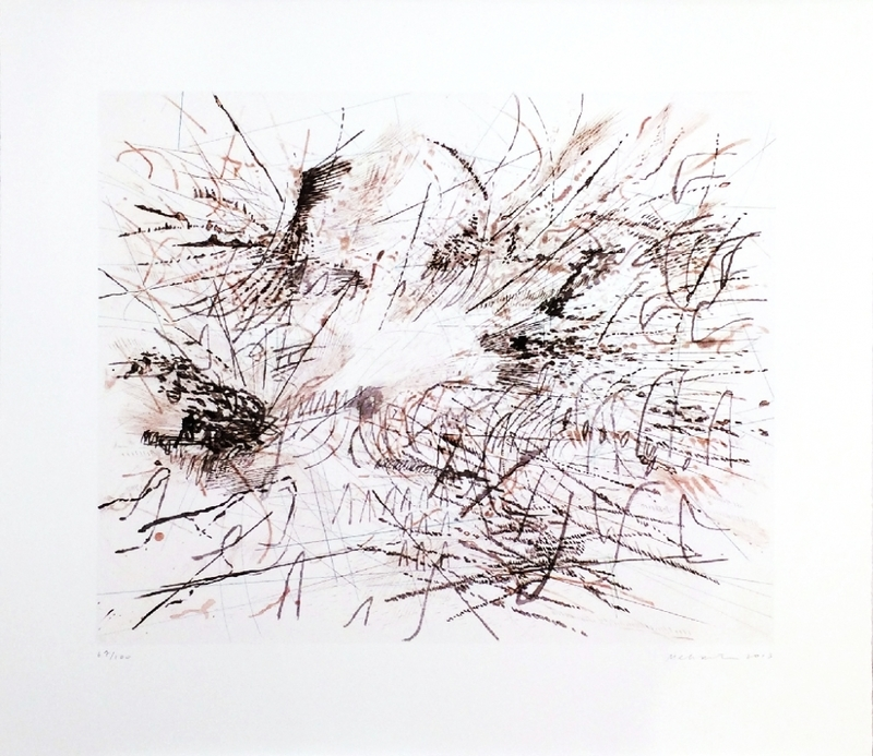 Julie MEHRETU - Grabado - Untitled (Pulse)