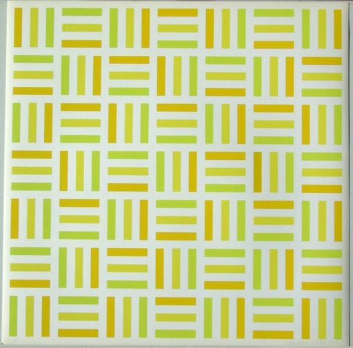 François MORELLET - Druckgrafik-Multiple - Tirets jaunes,jaunes-verts,jaunes orange