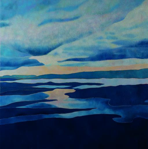 Marie-Pierre AUTONNE - Peinture - Infiniment Bleu