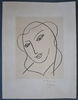 Henri MATISSE - Print-Multiple - Veiled Head, from: Studies for the Virgin