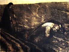 Käthe KOLLWITZ - Print-Multiple -  Plough Puller and Wife, from: Peasants' War