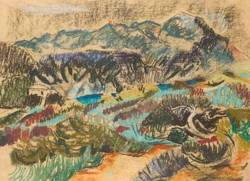 Willy EISENSCHITZ - Drawing-Watercolor - Landschaft in der Provence