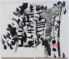 T'ANG Haywen - Drawing-Watercolor - Sans titre, vers 1975