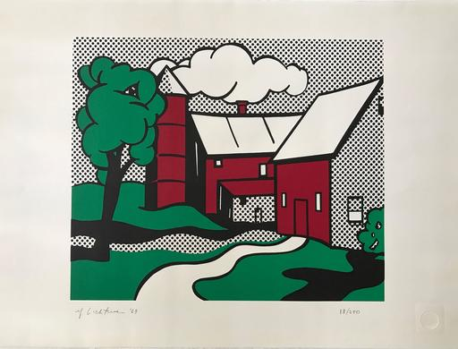 Roy LICHTENSTEIN - Print-Multiple - Red Barn