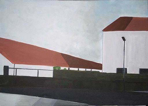 Vivi HERREBOUDT - Painting - Neighbourhood 2    (Cat N° 7173)