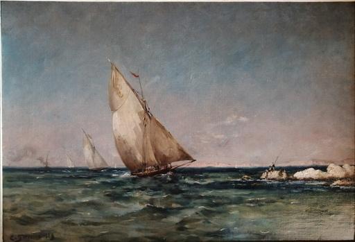 Clovis Frédérick TERRAIRE - Peinture - Régates en Méditerranée