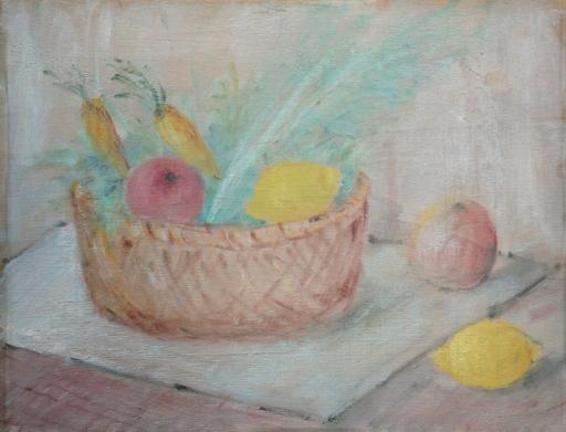 Pio SEMEGHINI - Pintura - natura morta con carote, melograni e limoni