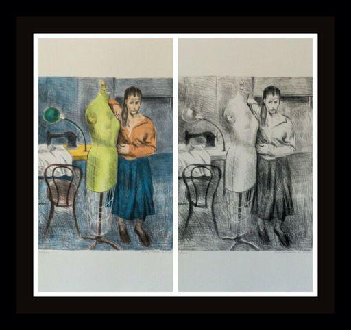Raphael SOYER - Druckgrafik-Multiple - Seamstress I Portfolio