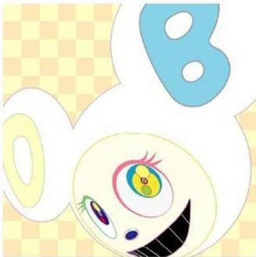 Takashi MURAKAMI - Grabado - White Reverse Dob