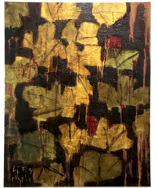 Reza DERAKSHANI - Pintura - Figue Purple