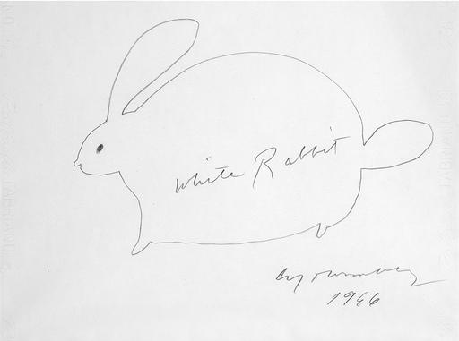 塞•托姆布雷 - 水彩作品 - White Rabbit - Suite di 5