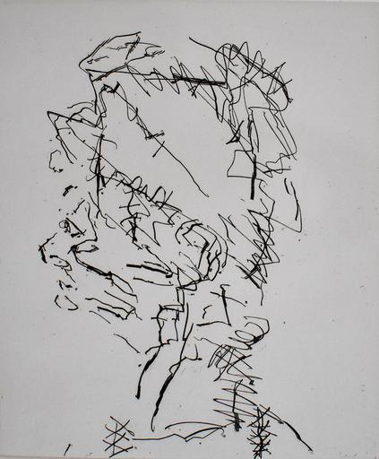 Frank AUERBACH - Estampe-Multiple - Julia, from: Seven Portraits