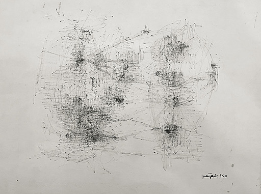 Jacques PAJAK - Disegno Acquarello - Composition 1190
