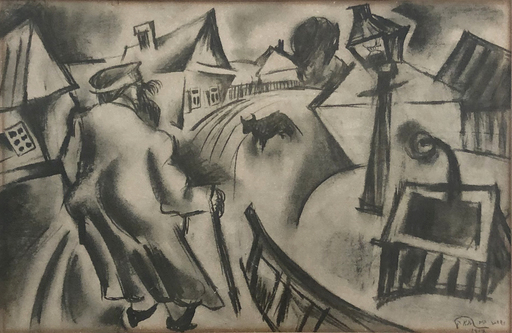 Issachar Ber RYBACK - Drawing-Watercolor - In the Shtetl