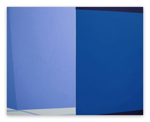 Macyn BOLT - Painting - intersect (Blue)
