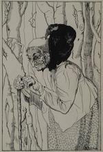"""Emilie MEDIZ-PELIKAN - Dessin-Aquarelle - """"Art Nouveau Illustration"""" by Emilie Mediz-Pelikan, ca 1900"""