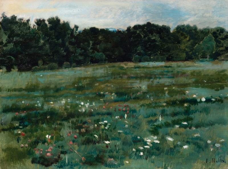 Ferdinand HODLER - Painting - Landschaft mit Wiese und Waldrand