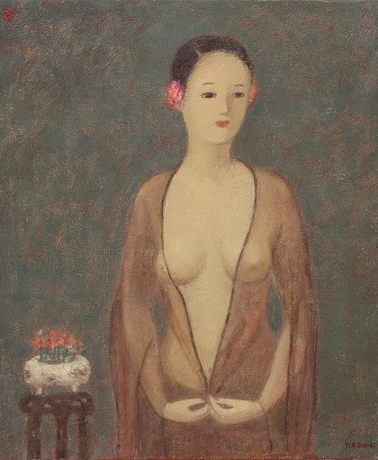 JIA Juanli - Gemälde - Nu au voile