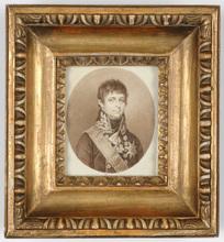 "Friedrich August JUNGE - Miniature - F.A. Junge ""Portrait of Crown Prince Karl August of Sweden"""