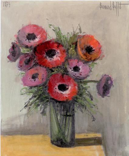 Bernard BUFFET - Painting - Anémones